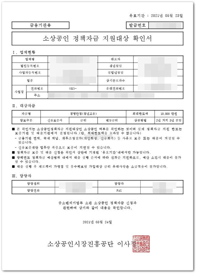 소상공인진흥공단 대리대출